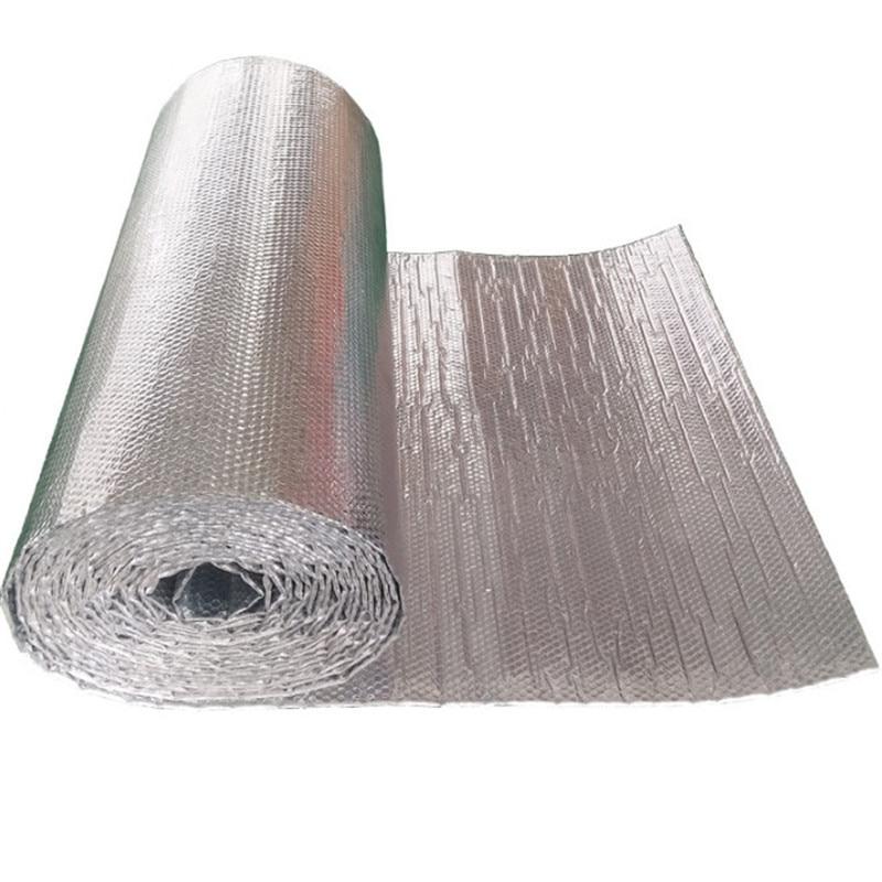 Double-sided Aluminum Film Polyethylene Aluminum Foil Insulation Energy Saving Waterproof Moisture Insulation Noise 1M X 3M
