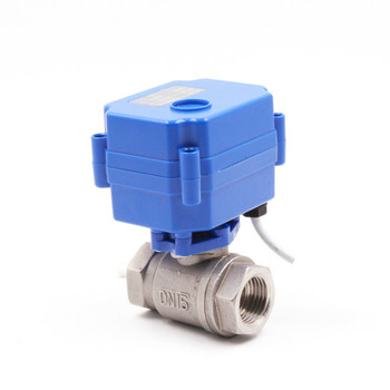 DN15 1/2 stainless steel Motorized Ball Valve 1 inch , DC5V 12V 24V AC220V Electrical Ball Valves 1/2 CR01 CR02 CR03 CR04 CR05 metal gear high quality motorized valves tf15 b2 series brass dn15 1 2 dc5v 12v 24v 2 way electric valves fast closed valve