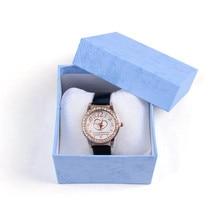 Модная Горячая коробка для часов узор сплошной цвет Браслет Ювелирные Изделия Квадратная коробка для часов долговечный подарок коробка для часов 50