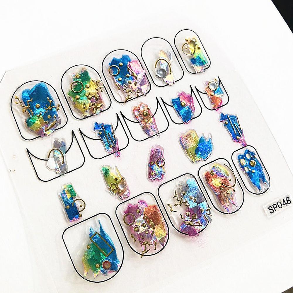 Newest SP-48 3d Nail Art Sticker Decals DP EA 5D Series Decals Tool DIY Nail Decoration