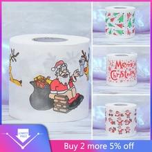Санта-Клаус с рождественским принтом, туалетная бумага, тканевый стол, декор для комнаты, рождественские, вечерние, для мероприятий, орнамент, аксессуары