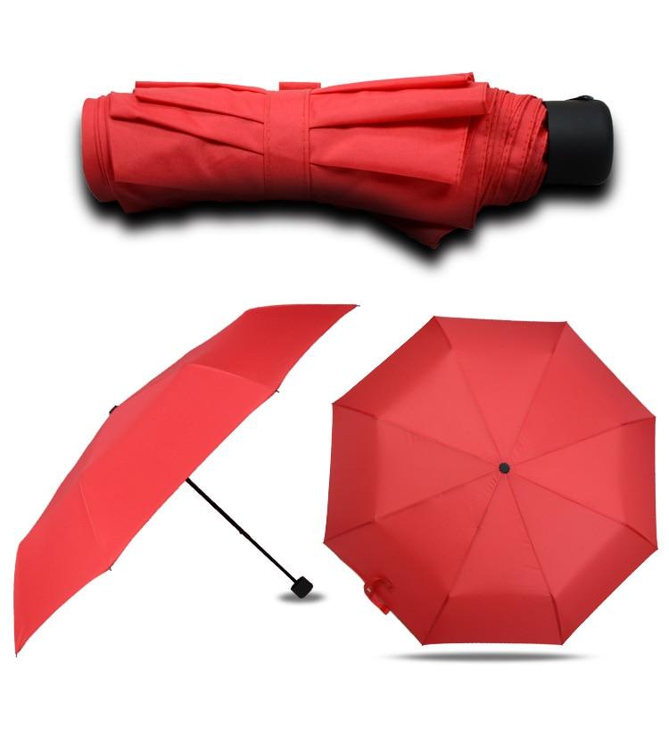 2019 New Style Creative Folding Jiu He Version Manual Three Fold 8 Bone Advertising Umbrella Customizable Logo Business Gift Umb