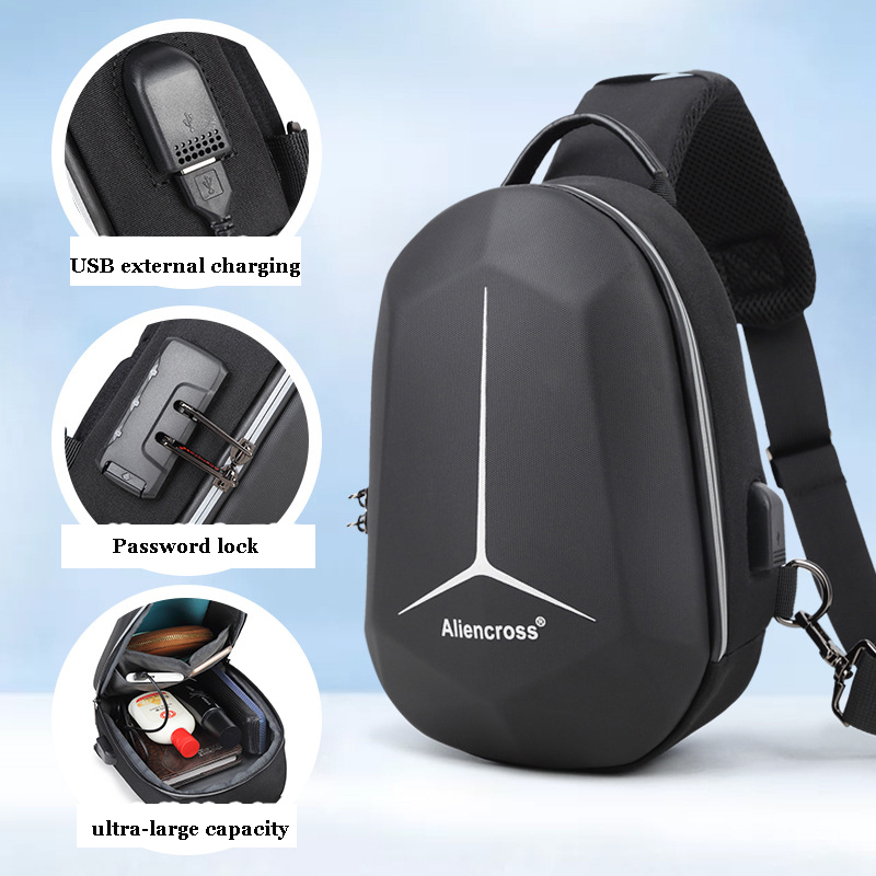 New Anti-theft lock Crossbody Bag for USB charging travel Men Shoulder bag High-quality Messenger Bags Male Waterproof Chest Bag 6