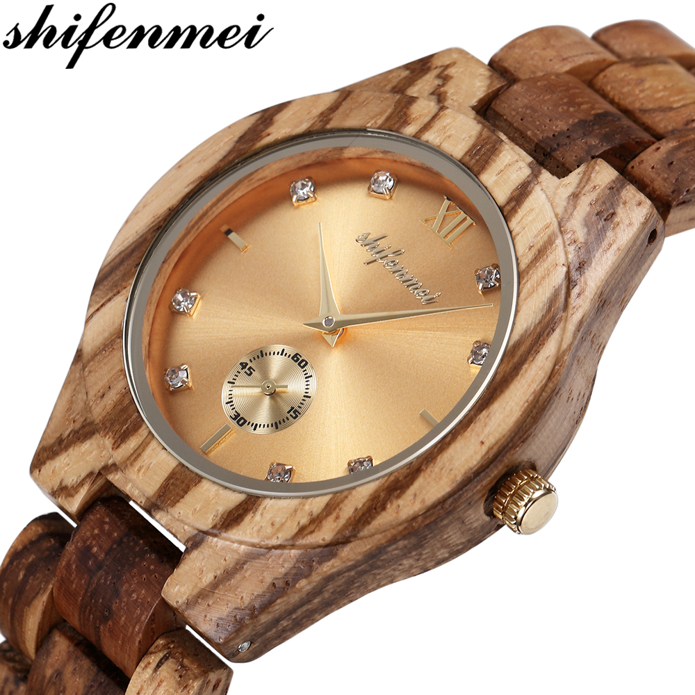 Shifenmei Woman Watch 2020 Wooden Watch Top Luxury Brand Quartz Ladies Watches Full Bamboo Wood Clock For Women Zegarek Damski