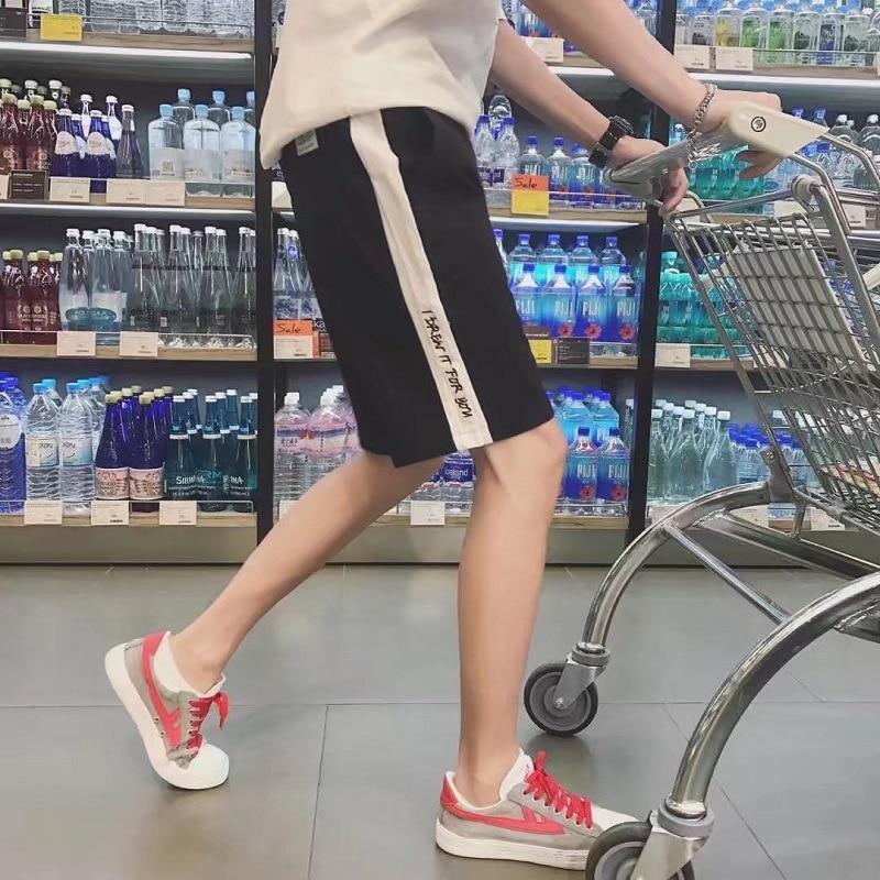 Summer Casual Pants MEN'S Shorts Trend Loose-Fit Teenager Beach Shorts Sports Korean-style Shorts