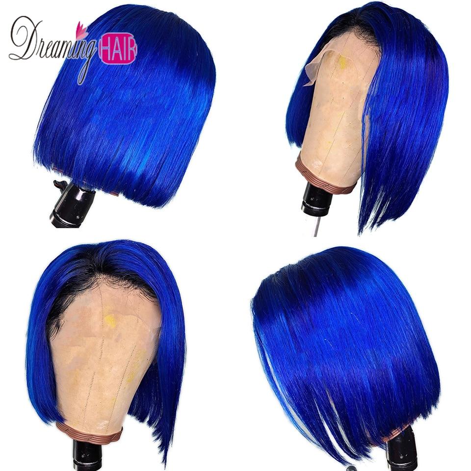 dark blue bob wig