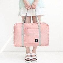 2019 Hot Sale Large Casual Waterproof Travel Bags Clothes  Shoulder Bag Foldable Handbag Duffle #925