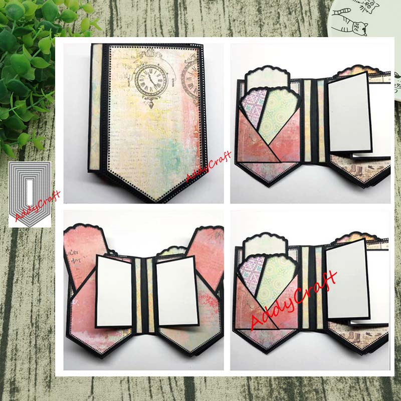 Metal Cutting Dies 9pc Tag Cut Die Mold Decoration Scrapbook Paper Craft Knife Mould Blade Punch Stencils Die