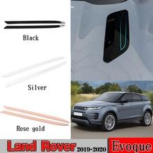 For Range Rover Evoque (L551) 2019 2020 3 Color ABS Chrome/Black Rose gold Engine Roof Hood Frame Trim Exterior Car Accessories