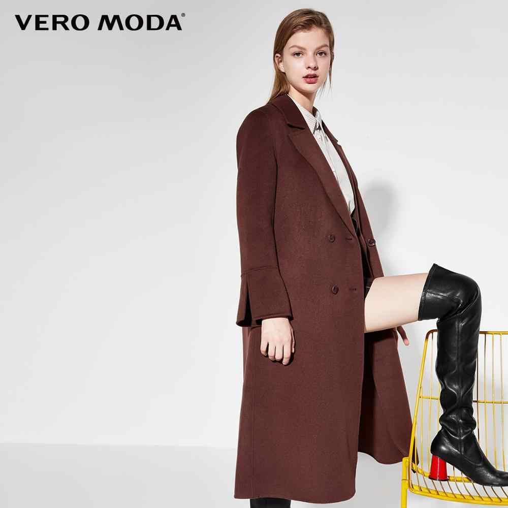 Vero Moda Neue Ankünfte 100% Wolle Zwei-Seitige Woll Mantel | 319327533