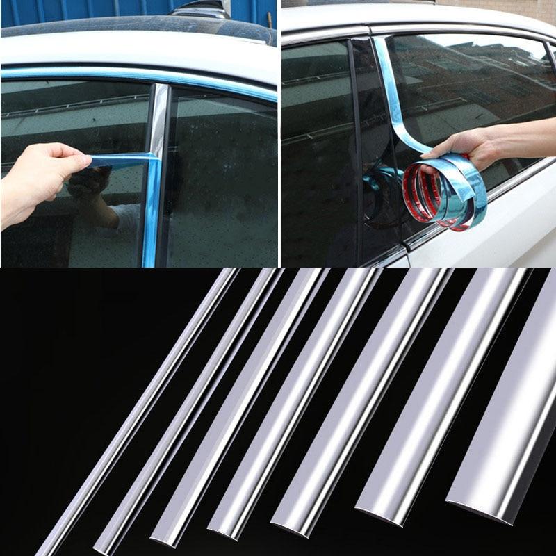 Автомобильные хромированные декоративные полосы, хромированная отделка для автомобилей, хромированная отделка для окна автомобиля, внешн...