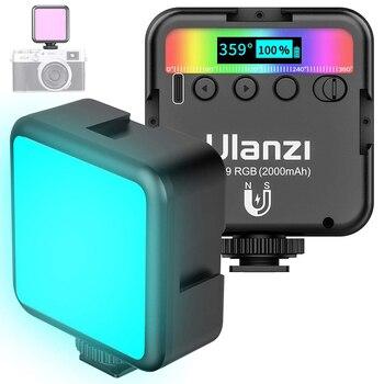 Ulanzi VL49 RGB Video Lights Mini LED Camera Light 2000mAh Rechargable LED Panel Lamp Photo Video Lighting  for Youtube Tik tok 1