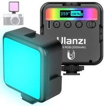 Ulanzi VL49 vídeo RGB luces Mini Luz de cámara LED 2000mAh recargable lámpara de Panel LED de vídeo de iluminación para Youtube Tik tok