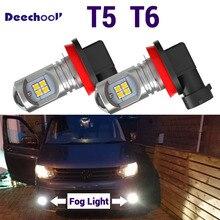 2pcs Canbus White Real 7.2W Car LED fog lamp front fog light bulb for VW Multivan Transporter Caravelle T5 T5.1 T6 (2003 2019)