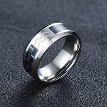 Vnox douze Constellations verseau anneaux pour femmes hommes 8mm acier inoxydable bande en Fiber de carbone anneau confort usure