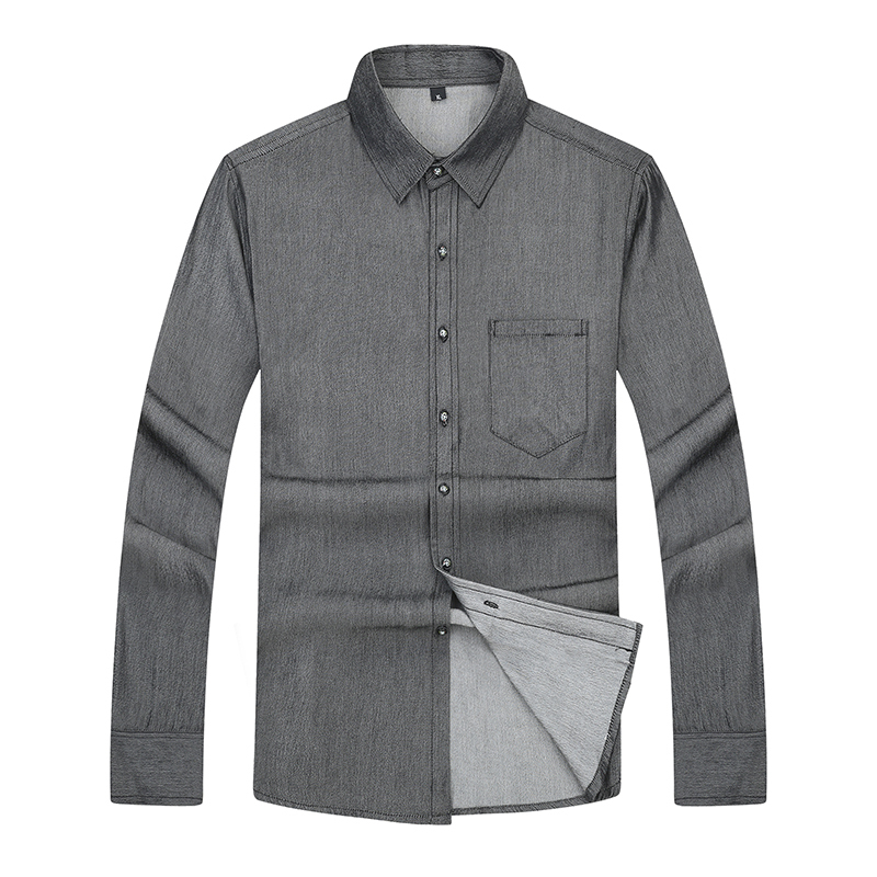 New Plus Size 7xl 6xl Casual Men Shirts Loose Fit Male Social Shirts Brand Long Sleeve Business Shirt Men Clothes