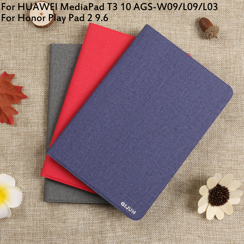 """Flip Case For HUAWEI MediaPad T3 10 AGS-W09/L09/L03 Honor Play Pad 2 9.6"""" Cover Tablet Case Full Protective Pouch Bags"""