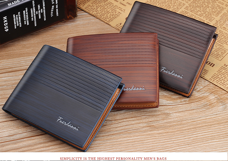 Hbf739ce230b446b89fd373a8c865cf92z - NO.ONEPAUL Genuine Leater men short wallet business retro cross section embossed Credit card holder fashiong wallets men purses