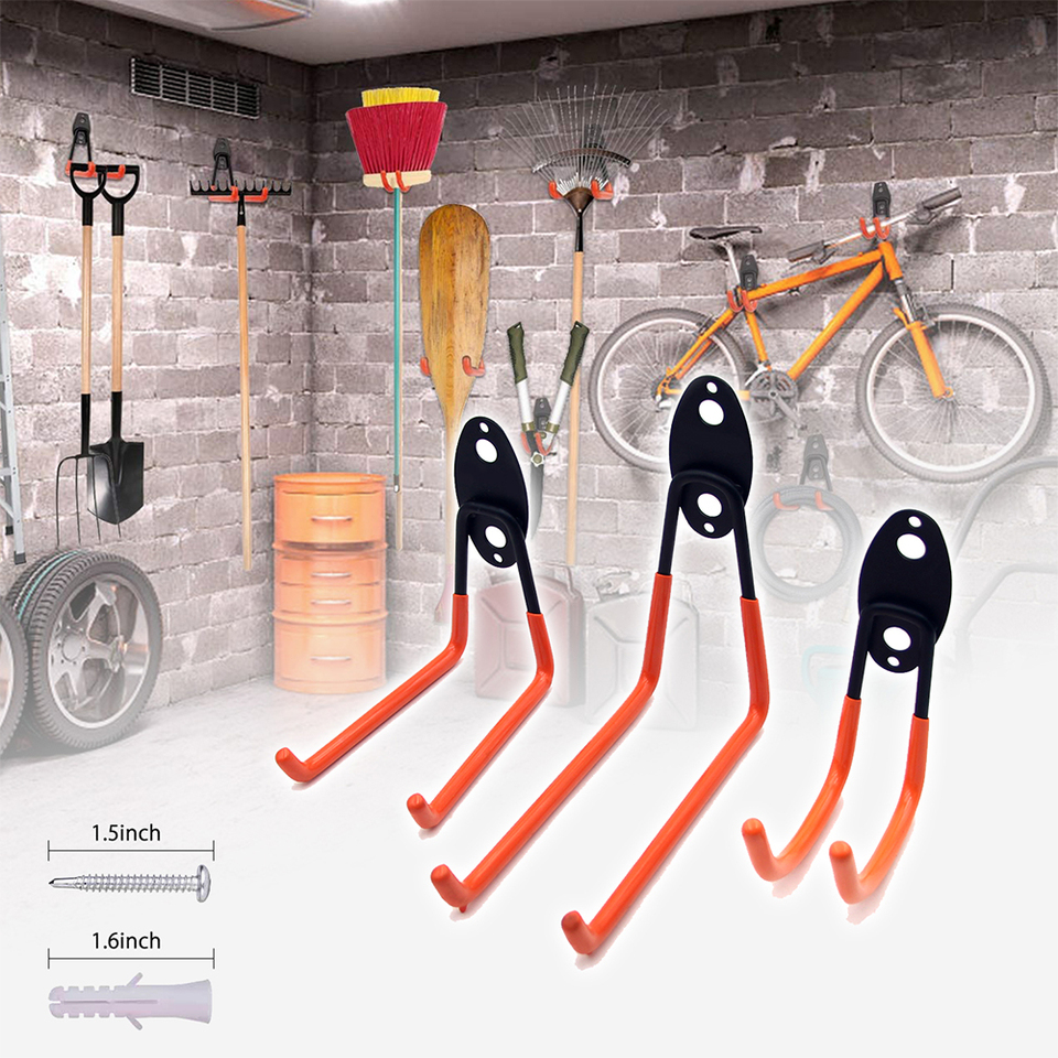 7E 1pc Bike Wall Stand Holder Large Road Bicycle Storage Hooks Cycle Hanger
