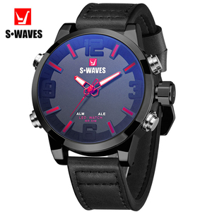 Dual Display Watch Men Leather