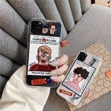 Divertido Graffiti caso de teléfono para Samsung Nota 10 8 9 plus S10 S10 E S9 S8 S7 A30 A50 A70 A80 A5 A8 A9 funda transparente suave capa