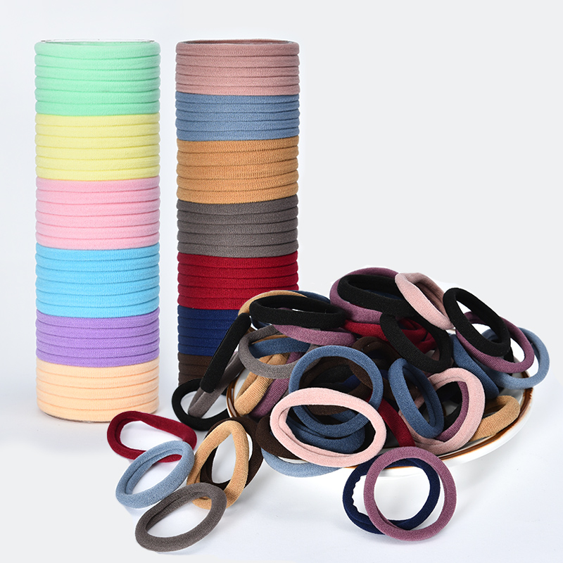 10/50/100 Pcs/Set Women Girls Colors Soft Scrunchies Elastic Hair Band Lady Lovely Solid Rubber Bands Female Hair Accessories