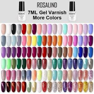 ROSALIND Gel Nail Polish Hybrid Varnishes All For Manicure Nails Art Semi Permanent UV Led Gel Polish Nail Design Base Top Coat(China)
