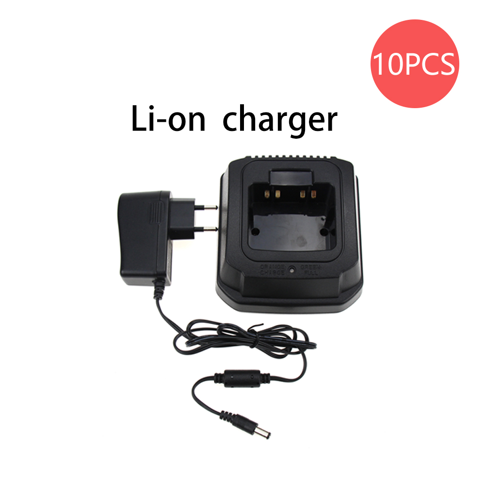 10Pcs Walkie Talkie Li-ion Battery Charger For Yaesu/Vertex Standard Radios EVX-531 EVX-534 EVX-539 VX-450 VX-459 Two Way Radio