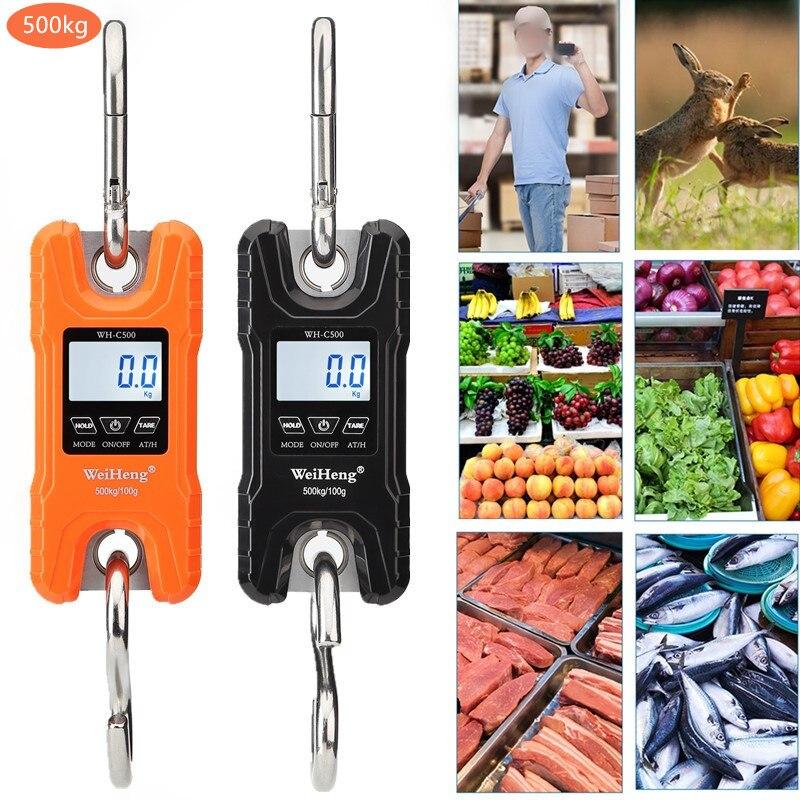 Весы для крана, вес 300 кг 150 кг/50 г 200 кг/100 г 500 кг/100 г, сверхмощные подвесные весы с крючком, портативные цифровые весы из нержавеющей стали, Скидка 40%-5