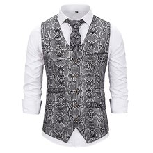 PUIMENTIUA 2019 Male Gold Steampunk Slim Fit Single Breated Wedding Sleeveless  Vests For Men Buttons Waistcoat