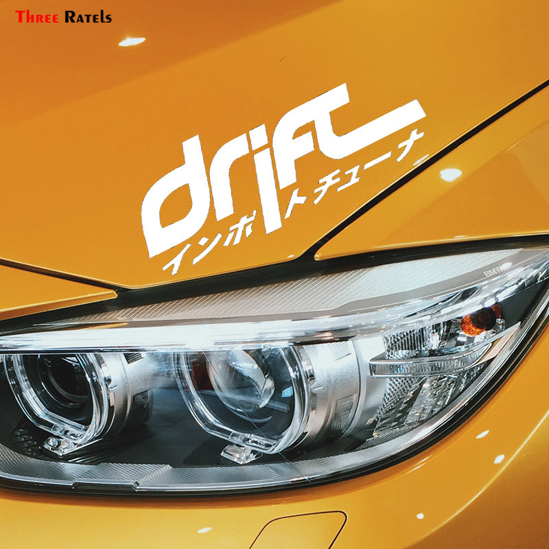 Three Ratels FTZ-224 Car Styling Drift Japan Japanese Competition Car Window Stickers Sticker  Automobile
