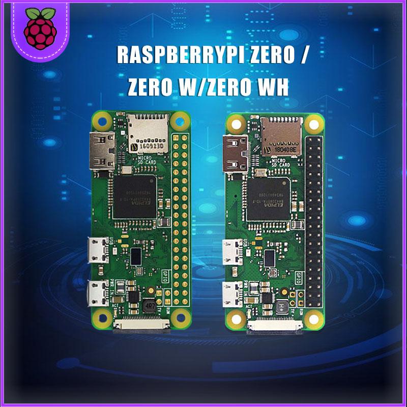 Raspberry Pi Zero W/WH Starter Kit 5MP Camera +RPI Zero W/WH ABS Case+Heat Sink+ 5V2A Power Adapter+32G SD Card+ Adapter Kit Min