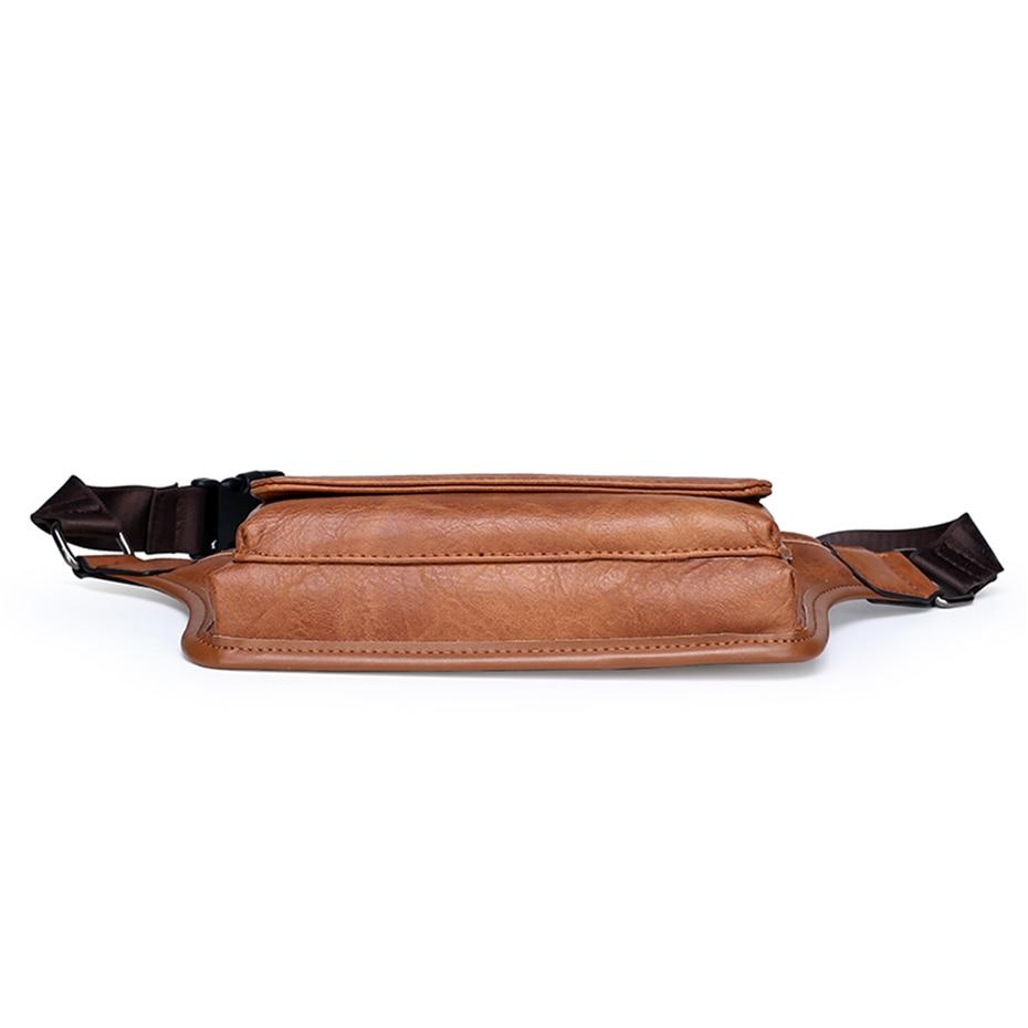 masculino para cinto de couro saco de quadril bolsa de peito