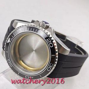 Image 5 - 40mm sapphire glass black ceramic bezel Watch Case set fit 2836 miyota 8215 MOVEMENT