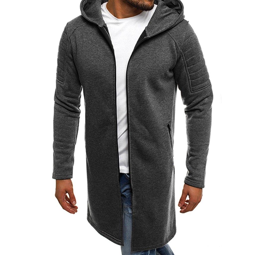2019 New Winter Men s Jacket Hooded Man Jacket Men Splicing Hooded Solid Trench Coat Fold Innrech Market.com