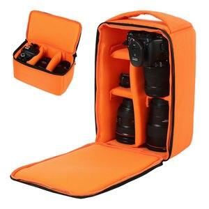 Image 2 - Bolsa de cámara impermeable a prueba de golpes, funda de transporte acolchada para SLR, Canon, Nikon, Sony
