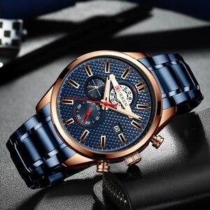 Image 4 - CURREN Fashion Creative Chronograph Men Watches Sports Business Wrist Watch Stainless Steel Quartz Male Clock Reloj Hombre