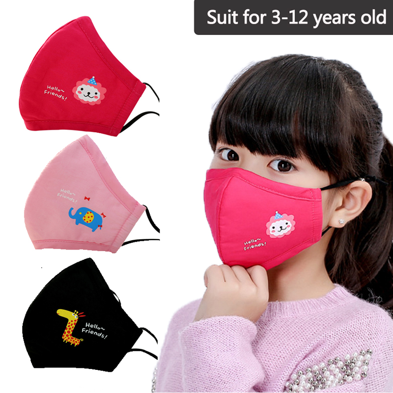 PM2.5 Respirator New Cotton Child Kid Masks N95 Filter Activated Carbon Breathable Non Woven Fabric Mask Anti Dust Mouth Mask