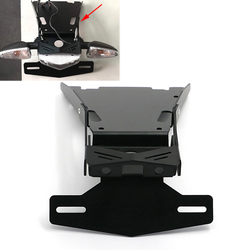 Motorcycle Tail Mount License Plate Bracket For BMW R NINE T 2014 2015 2016 2017 2018 Rear License Plate Support Holder Black|Covers & Ornamental Mouldings| |  - title=