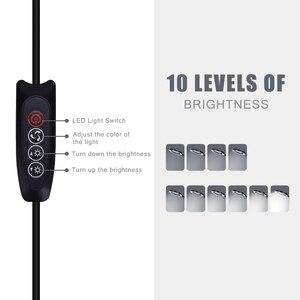 Image 4 - NEWACALOX USB 3X/5X Lente di Ingrandimento Morsa Da Banco Morsa Morsetto Da Tavolo Lente di Ingrandimento Luci A LED Flessibile Lampada Da Tavolo per la Lettura di Lavoro illuminazione