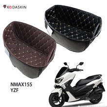 Motocicleta de couro do plutônio traseiro tronco forro de carga protetor assento da motocicleta balde almofada para nmax 155 nmax155 yamaha acessórios 16-21