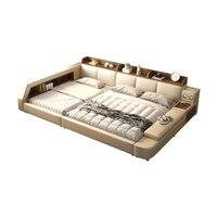 Smart bed frame camas bedroom set кровать двуспальная lit beds سرير muebles de dormitorio мебель cama de casa Parent child bed
