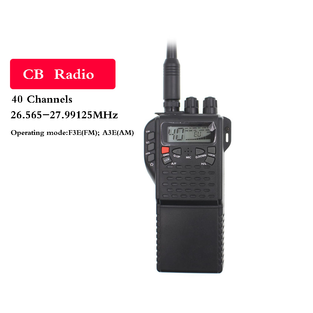 CB Band Two-Way Radio MR999 PRO CB270 Walkie Talkie LCD Diaplay 40 Channel 26.565-27.99125MHz Citizen Band Portable Transceiver
