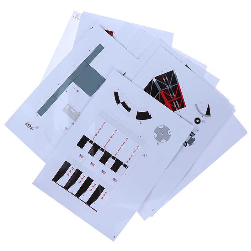 1:300 Saturno V Rocket papel 37cm modelo puzle Manual espacio 3D DIY Origami papel arte juguete