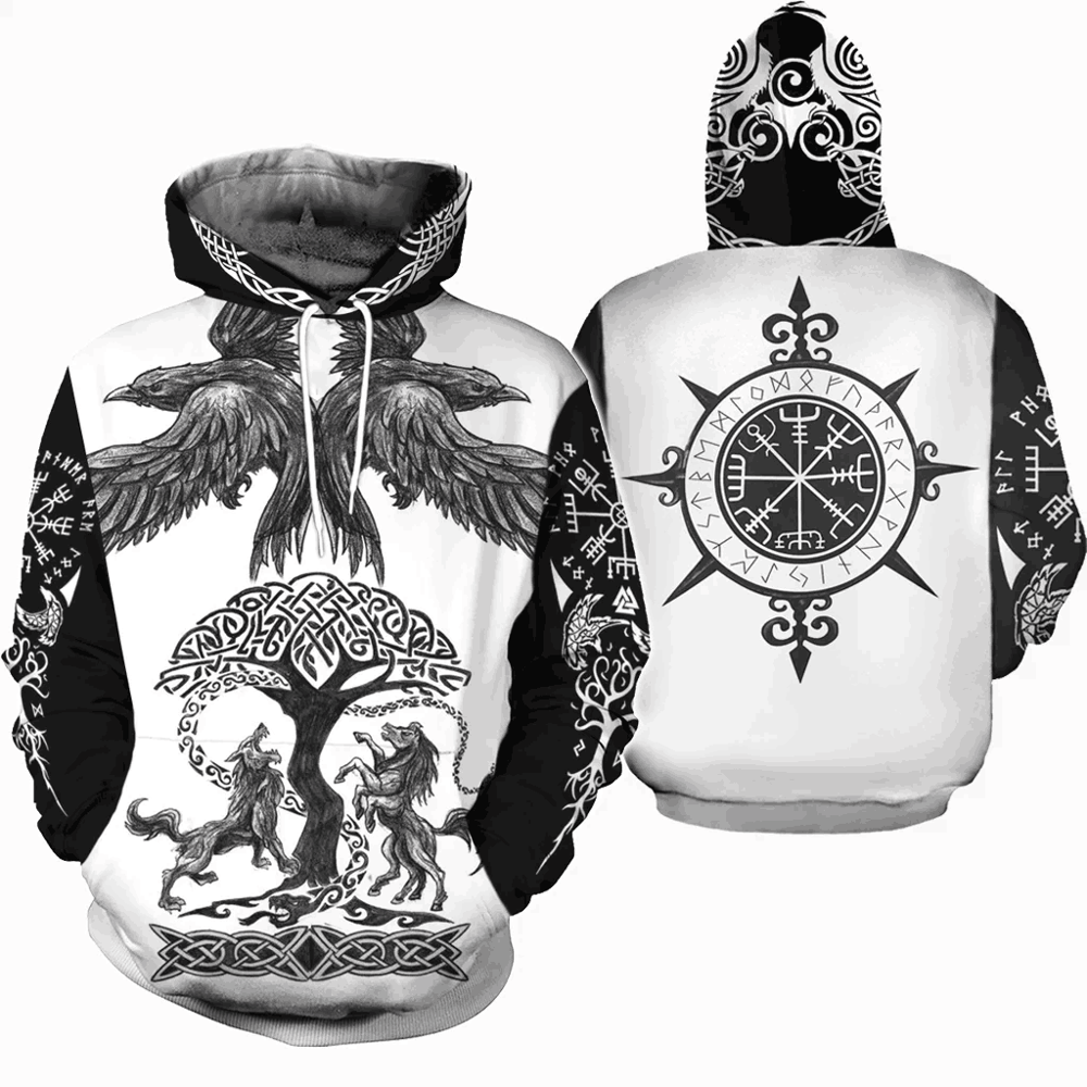 PLstar Cosmos Viking Warrior Viking Tattoo New Fashion Tracksuit casual 3DPrint zipper/Hoodie/Sweatshirt/Jacket/Mens Womens s-3