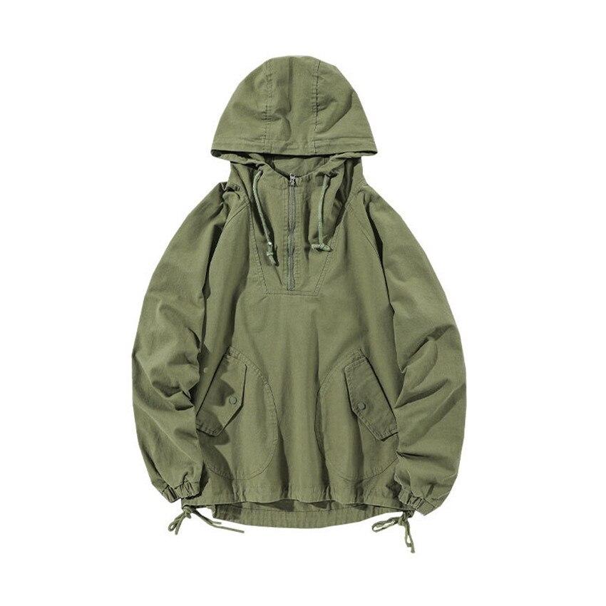 Мужская весенняя куртка, новая Корейская Свободная Повседневная однотонная куртка пуловер большого размера, трендовая уличная куртка карго MAGGIE