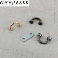 Conector de arco de 11mm para bolsas de bricolaje, accesorios de puente, colgador de metal, anillo en u, 10 Uds., 50 Uds.