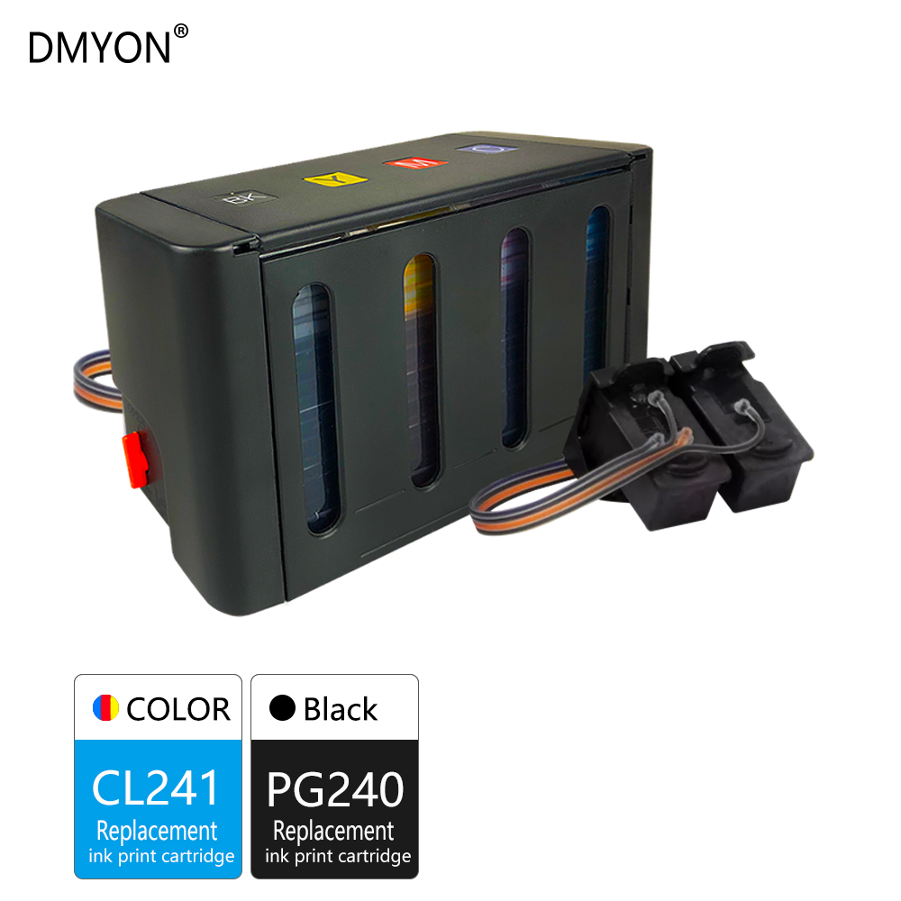 DMYON Compatible for Canon PG240 CL241 CISS Bulk Ink for MG2120 MG3120 MG3122 MG3520 MG4220 MX452 MX472 MX522 MG2220 MG4120|Continuous Ink Supply System| |  - title=