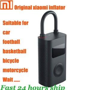 Image 1 - Original xiaomi mijia inflator portátil inteligente digital sensor de pressão dos pneus bomba elétrica para motocicleta carro futebol
