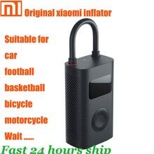 オリジナルxiaomi mijiaインフレータポータブルスマートデジタルタイヤ圧力センサー電動ポンプオートバイオートバイの車サッカー